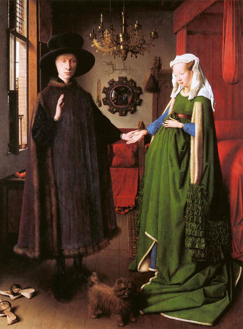 Gleznā attēlotais pāris... Autors: historian Arnolfīni laulības