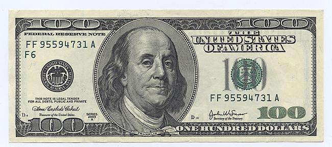 ASV 100 dolāru banknotei virsū... Autors: MilfHunter Mans 100. raksts !