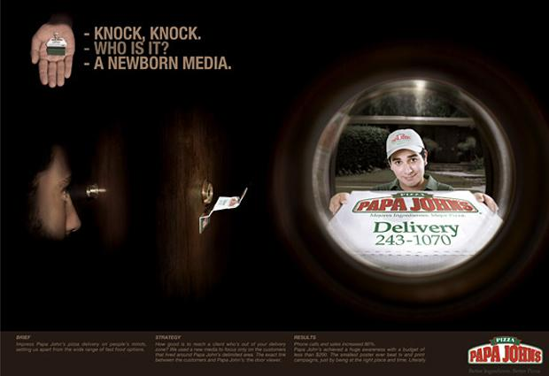 Papa Johns Pizza Saatchi amp... Autors: Sister Reklāma
