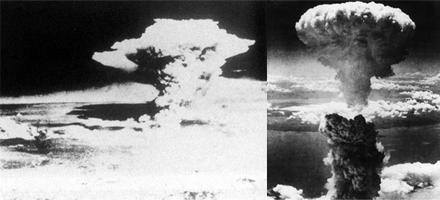Te ir redzamas divu atombumbu... Autors: Paparazijs Dažas skumjākās pasaules fotogrāfijas.