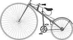 1879gads  Pirmais velosipēds... Autors: shrick Velo vēsture