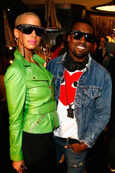 Kanye West un Amber Rose Autors: princeSS /Kuras slavenības 2010 gadā izšķīrušās?/