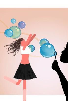 bubble  gaisīgā burbuļmeitene Autors: Leniijs Spoki multenizēti