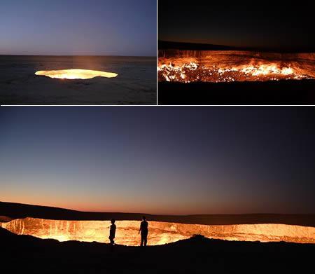 Elles caurums Uzbekistānā... Autors: Optimists NaCl Ģeoloģiskie pasaules brīnumi...