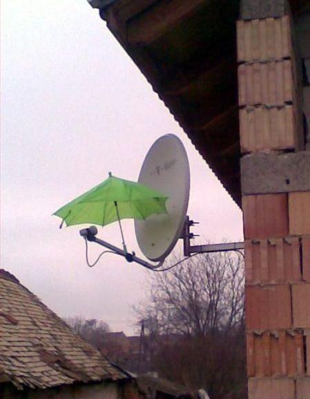 Signāla problēmas lietus laikā... Autors: Naglene Praktiskais latvietis?