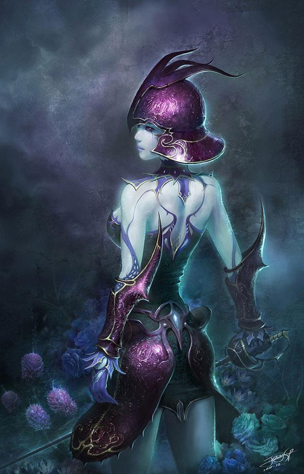 Vampire warrior by SeungPil... Autors: Axuna Female Digital Art