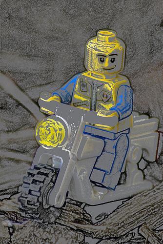 Photoshop week Offroad biker... Autors: awoken A LEGO a day (oktobris, 2008)