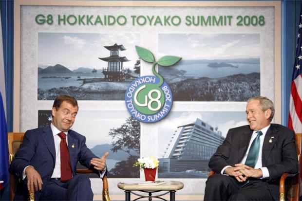 Medvedevs un Buš G8 samitā Autors: Jingla Un kur tu vēlies pabūt?