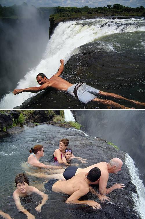 Viktorijas ūdenskritums... Autors: MJ 10 fascinējošākie pasaules peldbaseini!!