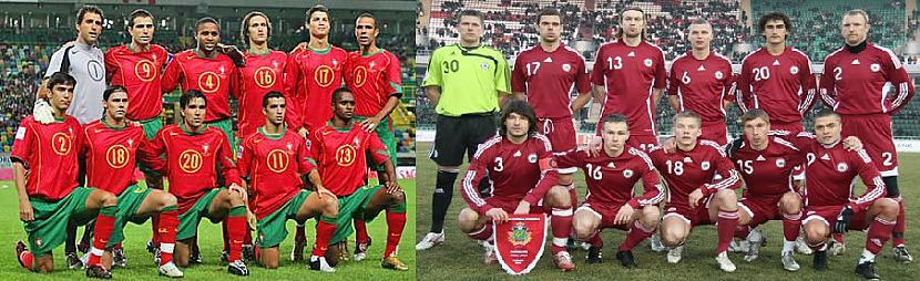 Portugāles futbola komandas... Autors: Skoolnieks Portugāle VS Latvija