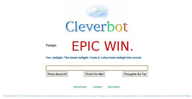 wwwcleverbotcom VNK izcila... Autors: DESPOTS GORE Mājaslapas kurās nosist laiku