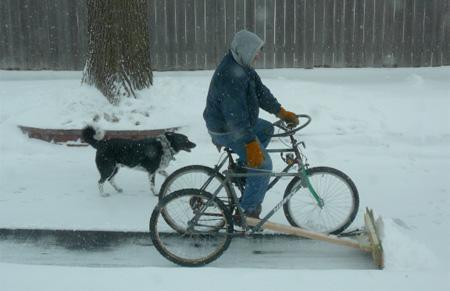 Sniega šķūrējamais velosipēds Autors: LVmonstrs Unikāli un kreatīvi velosipēdi