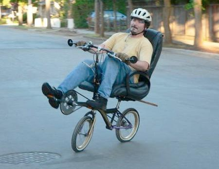 Velosipēds datorkrēsls Autors: LVmonstrs Unikāli un kreatīvi velosipēdi