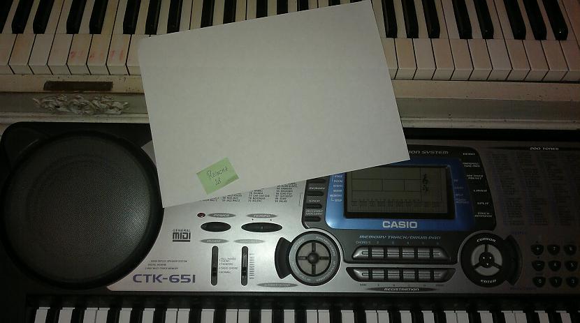 Autors: reincha28 A4 lapa uz klavierēm vai sintizatora
