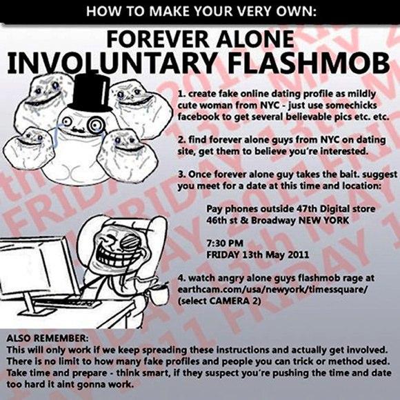 Autors: Korekcija Forever Alone Flashmob