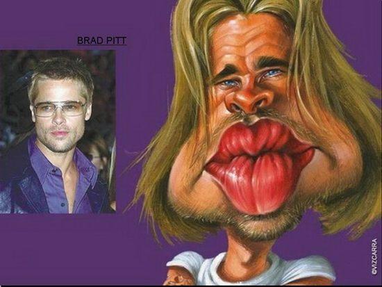Brad Pitt Autors: cdykgc uklgci Slavenību karikatūras