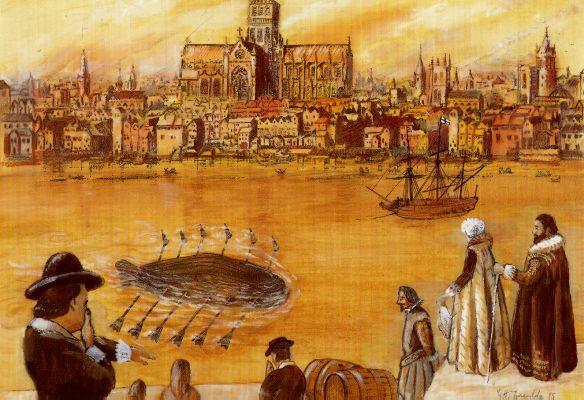 Pirmā iegremdējamā zemūdene... Autors: Zvingulis Pirmās zemūdenes