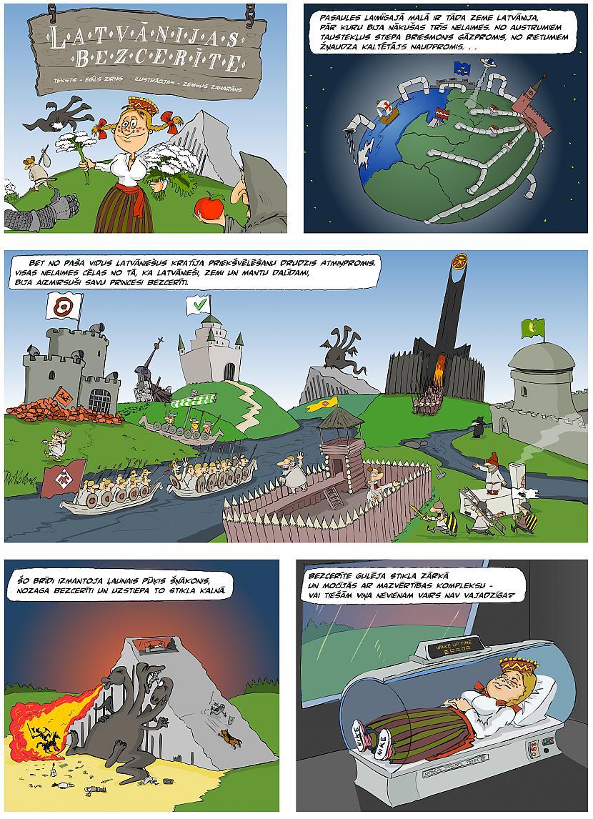 """Autors: Karikaturistslv Īsts latviešu komikss - """"Latvānijas Bezcerīte"""""""