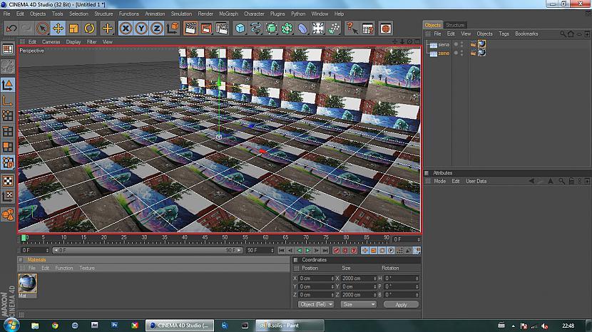 Uzmetam izveidoto materiālu uz... Autors: BuzzBomb 25 soļi, kā izveidot 3D ekrāna tapeti