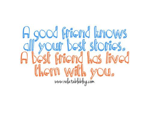 Autors: Karamele05 Remember that every good friend was once a stranger.