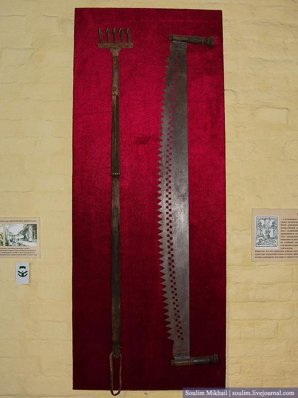 Ar šiem rīkiem viņi grieza... Autors: Dark Mist Spīdzināšanas ierīču Muzejs Krievijā.
