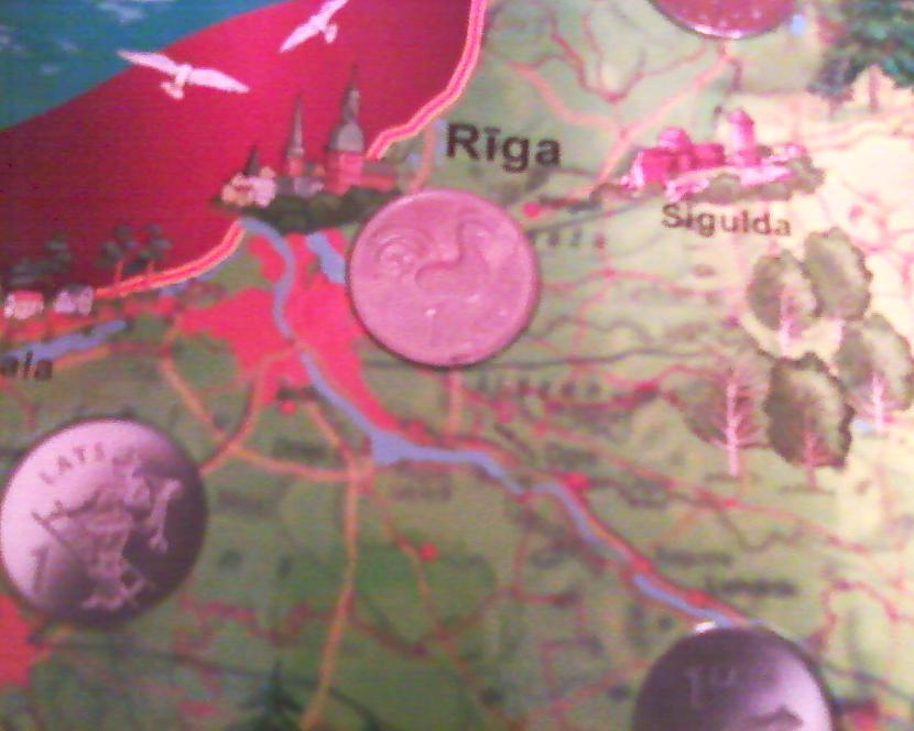 Rīgas Gaiļa monēta Autors: NUCKAL Mana LV 1latnieku kolekcija!!!