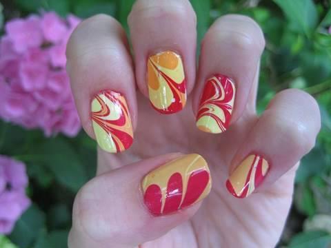 Autors: MazaisKeksinjsh Water Marbling Nail Design