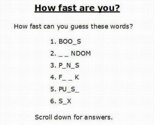 Autors: pofig Tests: Atmini vārdus?