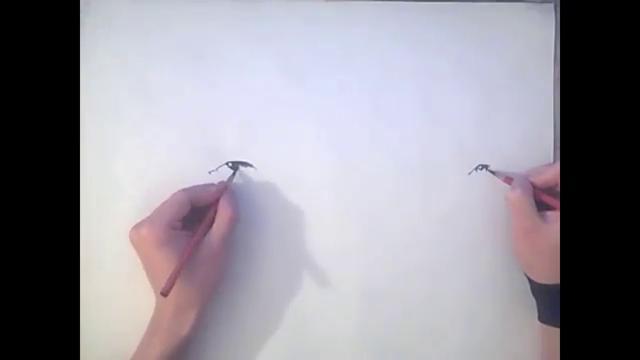 Autors: Administrācija Zīmē vienlaicīgi ar abām rokām