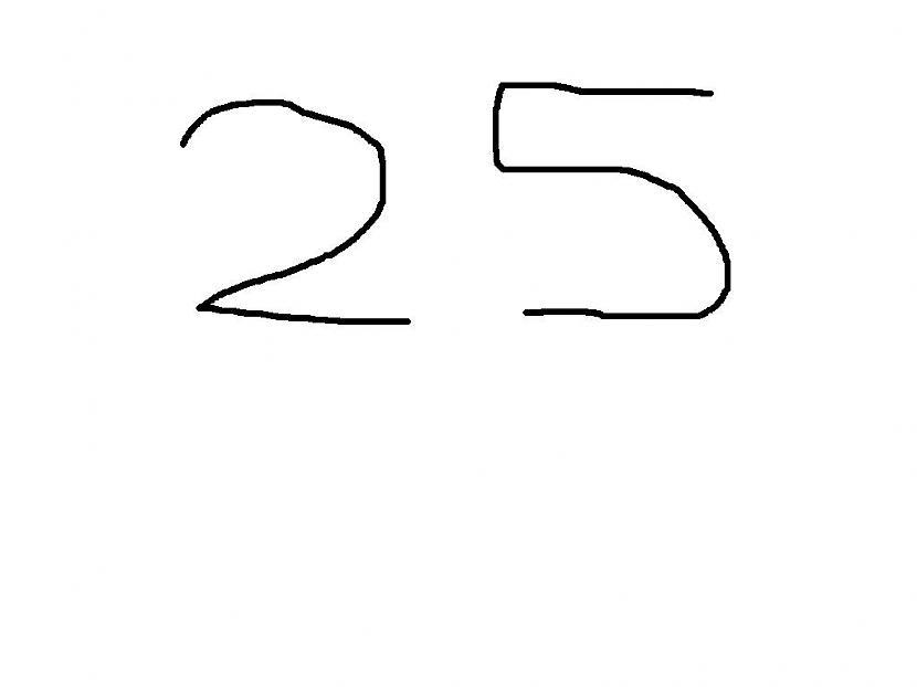 vienkarš 25 Autors: Fosilija Kā no skaitļa 25 uzzīmet suņa galvu