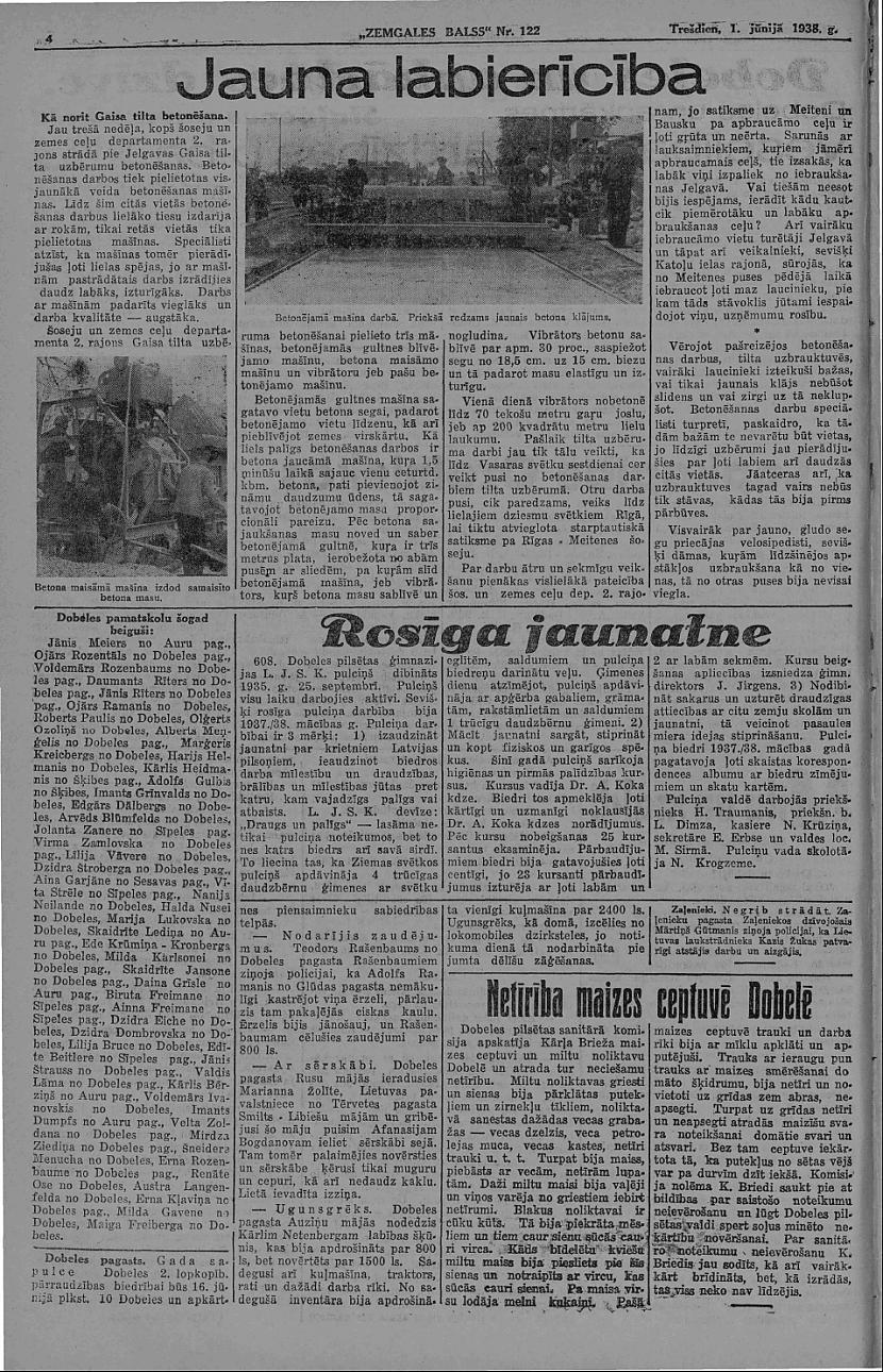 Zemgales balss Autors: Ihonujmans Avīzes Latvijā pirms II pasaules kara.