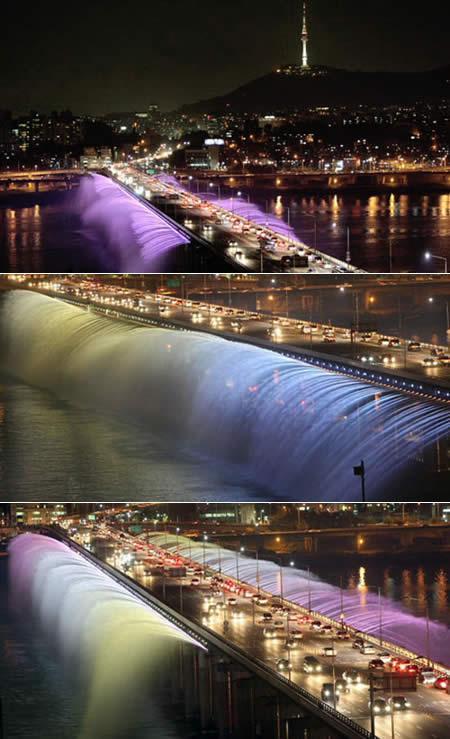 Banpo tilts sastopams... Autors: wildkuilisNEWS6 Pasaulē iespaidīgākie tilti