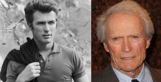Clint Eastwood Autors: Kobis Filmu zvaigznes jaunībā un tagad