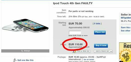 Ipod touch 4gen Autors: Breds Pits eBay vs LV internetveikali