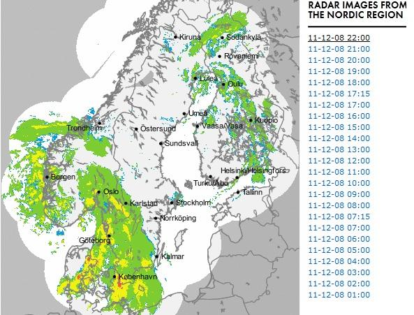 Attēlā redzams spēcīgā ciklona... Autors: ghost07 Latvijai tuvojas sniegavētra