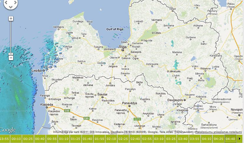 0430 meteoradarā izskatijās... Autors: ghost07 Latvijai tuvojas sniegavētra