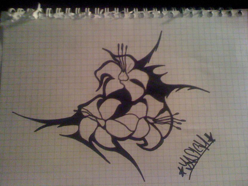 Tribal flower 2 Autors: ZaSiCh Some my drawing