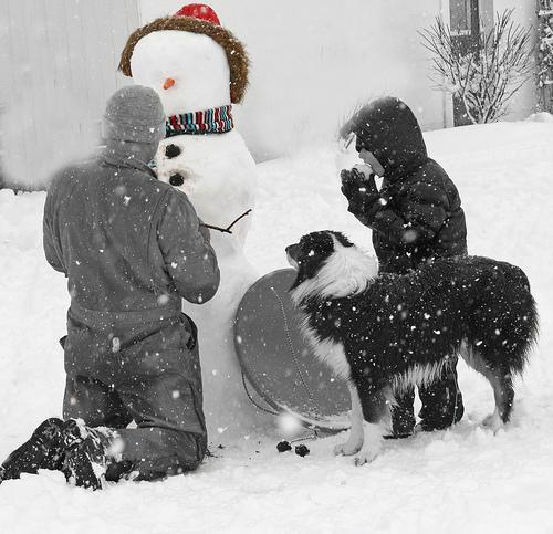 Celt sniegavīru Autors: Fosilija Labās lietas ziemā!