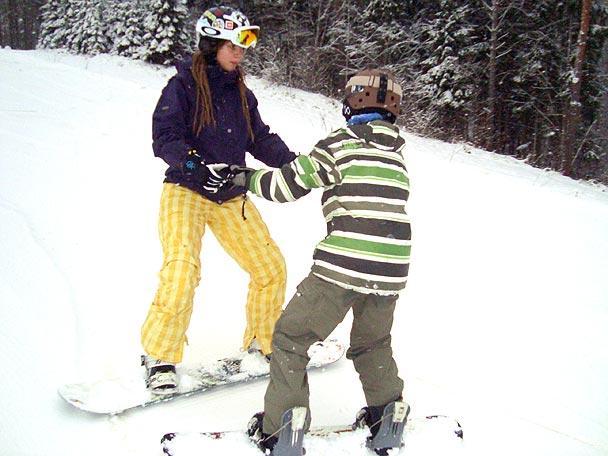 Ar dēli pabraukt  Autors: Fosilija Labās lietas ziemā!