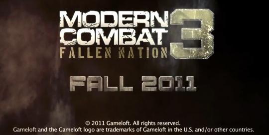 Grafiskais izpildījums ir pat... Autors: Crop Jaunākais Modern combat 3 ios un android ierīcēm.