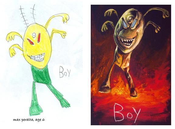Autors: R1DZ1N1EKS Bērnu zīmējumi, kas pārtaisīti par īstiem mākslas dar
