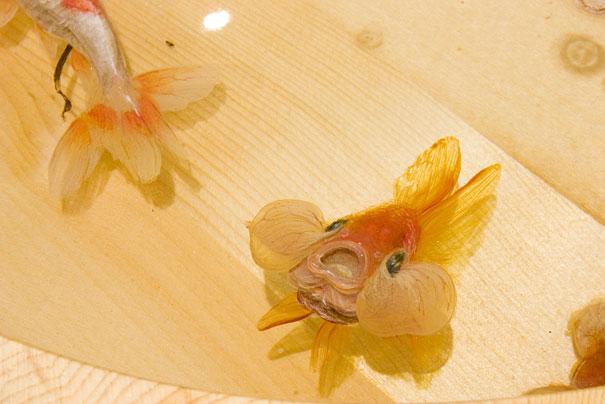 Autors: skārdene Breathtaking 3D Goldfish Paintings by R. Fukahori