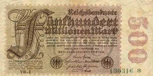 500 miljoni markas Autors: Fallenbeast Vislielākās banknotes pasaules vēsturē