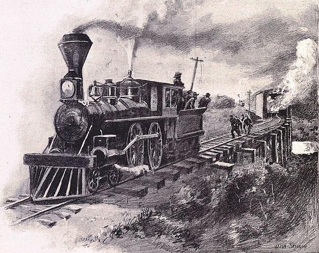 Ziemeļniekiem arī radās... Autors: YogSothoth Lielā lokomotīvju pakaļdzīšanās