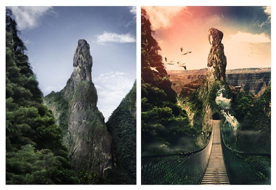 pirms un pēc apstrādes  Autors: Coop foto manipulācijas 2