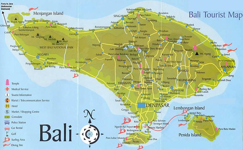 1 Bali salas karteGalvenie... Autors: Persija Indonēzijas sala - Bali
