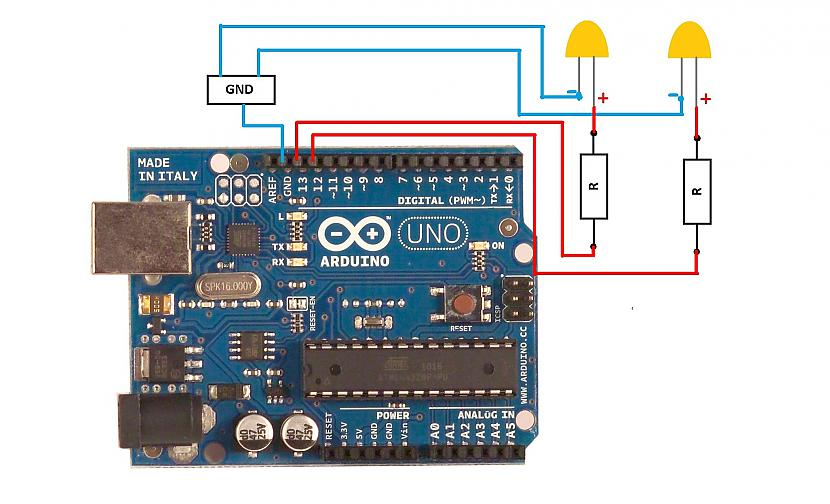 shēma Autors: robchys pirmie soļi pretī Arduino