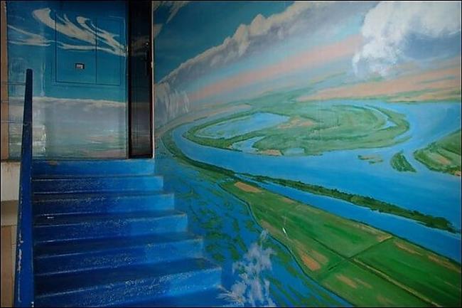 Autors: ORGAZMO Kreatīva kāpņu telpa.