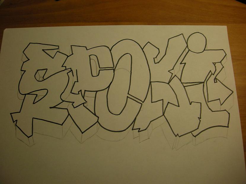 Apvelk ar melno marķieri Autors: Kazas kungs Kā es zīmēju graffiti