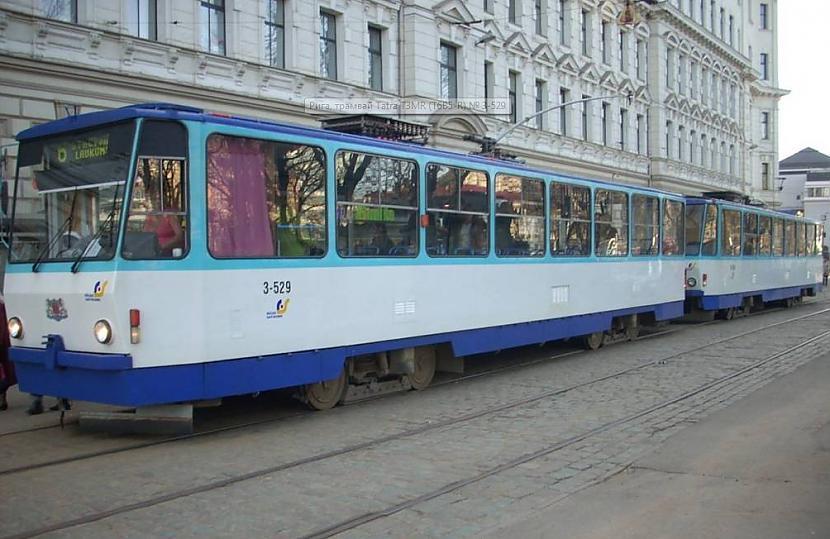 Tramvajs Tatra T3MR T6B5R... Autors: Fosilija Tramvaji Rīgā.